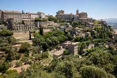 Medieval hilltop town of Gordes. Provence. Royalty Free Stock Images