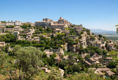 Medieval hilltop town of Gordes. Provence. Royalty Free Stock Photography