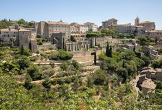 Medieval hilltop town of Gordes. Provence. France Stock Images