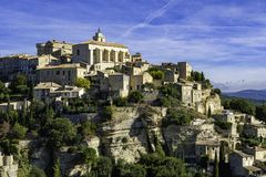 Free Medieval Hilltop Town Of Gordes. Provence, Luberon National Park Stock Photography - 161621812