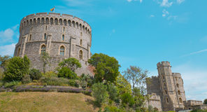 Medieval historic Windsor castle Stock Images