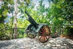 Medieval historical monument cannon royalty free stock photos