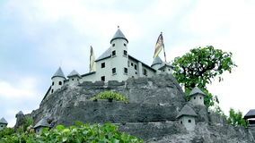 Medieval Hochosterwitz Castle in Austria stock footage