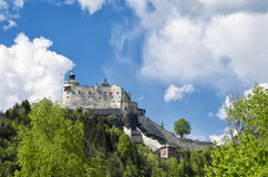 Free Medieval Hohenwerfen Castle. Historical Landmark On Salzach Valley, Austria Royalty Free Stock Image - 75007236