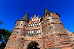 Medieval Holstentor gate of Lubeck Stock Photography