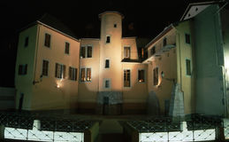 Medieval homes in Chambery by night Royalty Free Stock Photos