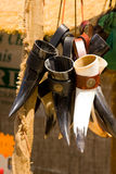 Medieval horns. For sale in the Joan d'Arc festival, in Compiegne, France Stock Photography