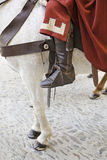 Medieval horse Stock Photo