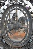Medieval horseman closeup in Kazimierz, Jewish quarter of Krakow, Poland. Royalty Free Stock Image
