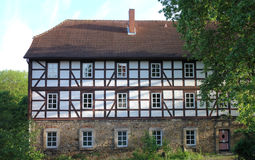 Medieval Hospital. This old half-timbered house in northern Germany was originally used as a hospital in the 16th century Stock Photo