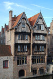 Medieval hotel in Bruges Royalty Free Stock Images