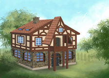 Medieval house 02 Stock Image