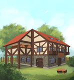 Medieval house 03 Royalty Free Stock Image