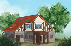 Medieval house Stock Photography