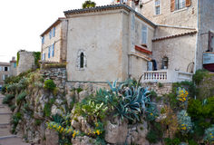 The medieval house in Antibes stock images