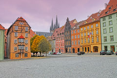 Medieval House Called Spalicek. Market Square In Cheb, Czech Republick. Stock Photos