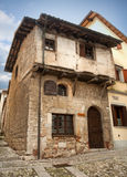 Medieval house in Cividale del Friuli. Italy Stock Photography