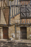 Medieval house facade. In Bergerac, France Royalty Free Stock Photography