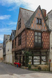 Medieval house facade. Chinon. France Royalty Free Stock Photos