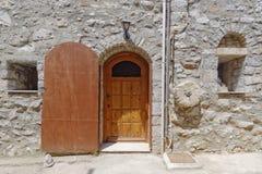 Medieval house facade. Chios island, Greece Stock Photography