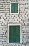 Medieval house facade stock photo