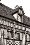 Medieval House with Half Timber Facade in France Stock Photo