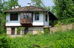Medieval House on the Hill. Restored medieval house in the Bulgarian village of Bozhentsy Stock Image