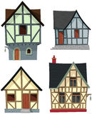 Medieval House Set Royalty Free Stock Image