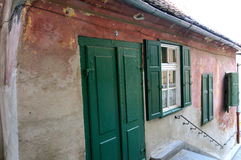 Medieval house in Sibiu Stock Images