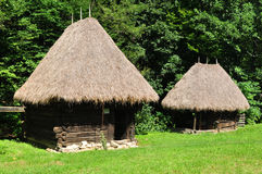 Medieval house. Sibiu romania ethnic museum wood house architecture Royalty Free Stock Images