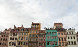 Medieval house typical architecture of Warsaw. Colorful medieval house typical architecture of Warsaw Royalty Free Stock Images