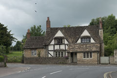 Medieval house in the village of lacock in the cotswold england Royalty Free Stock Photo