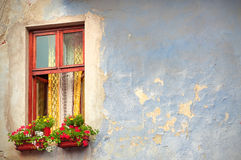 Medieval House Window. Old Medieval House Window in Sibiu City Royalty Free Stock Images