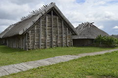 Medieval house. Wolin, Poland: Replica of medieval house royalty free stock photography
