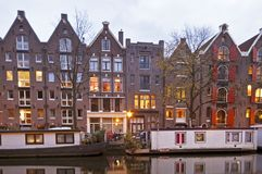 Medieval houses in Amsterdam Netherlands Stock Images