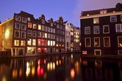 Medieval houses in Amsterdam Netherlands Royalty Free Stock Photo