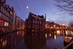 Medieval houses in Amsterdam Netherlands Stock Photography