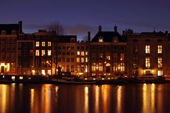 Medieval houses in Amsterdam Netherlands Royalty Free Stock Photos