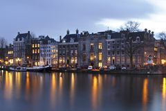 Medieval houses in Amsterdam Netherlands Royalty Free Stock Image