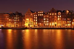 Medieval houses in Amsterdam the Netherlands Stock Images
