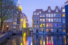 Medieval houses in Amsterdam the Netherlands Stock Image
