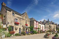 Free Medieval Houses At Rochefort En Terre Brittany In North Western France Royalty Free Stock Photos - 167211848