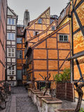 Medieval houses in a backyard in Copenhagen Royalty Free Stock Images
