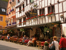 Medieval houses in Bernkastel, Germany Royalty Free Stock Photos