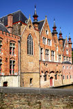 Medieval houses in Bruges Stock Photography