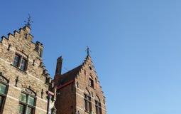 Medieval houses in Bruges town, West Flanders, Belgium Stock Image