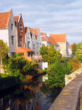 Medieval houses  canal tourist destination Bruges Brugge Belgium Royalty Free Stock Photography