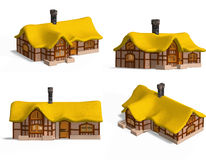 Medieval Houses - Cottage Royalty Free Stock Image