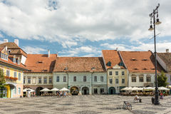 Medieval Houses Downtown Sibiu Stock Images