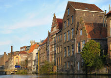 Medieval houses in Ghent Royalty Free Stock Photos